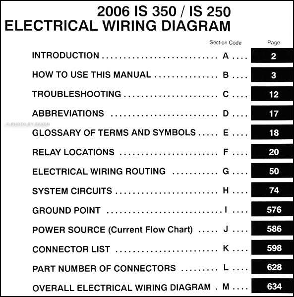 2006 Lexus Is 350 And 250 Wiring Diagram Manual Original