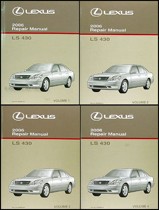 2006 Lexus LS 430 Repair Manual Original 4 Volume Set