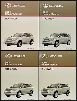 2006 Lexus RX 400h Repair Manual 4 Volume Set Original Hybrid