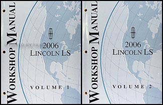 2006 Lincoln LS Shop Manual 2 Volume Set Original