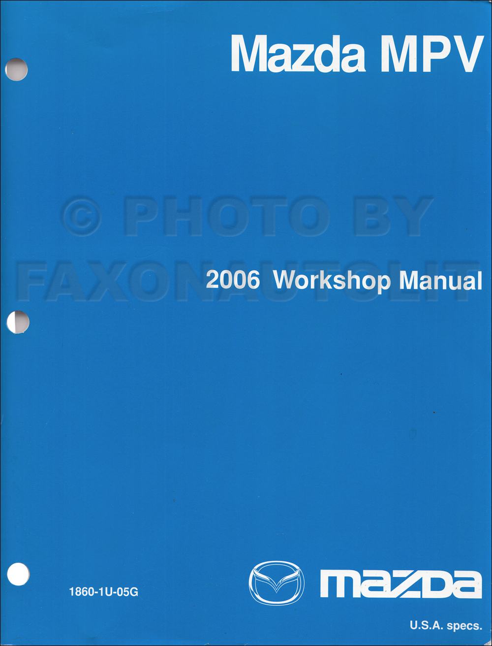 2005 Mazda MPV Repair Manual Original