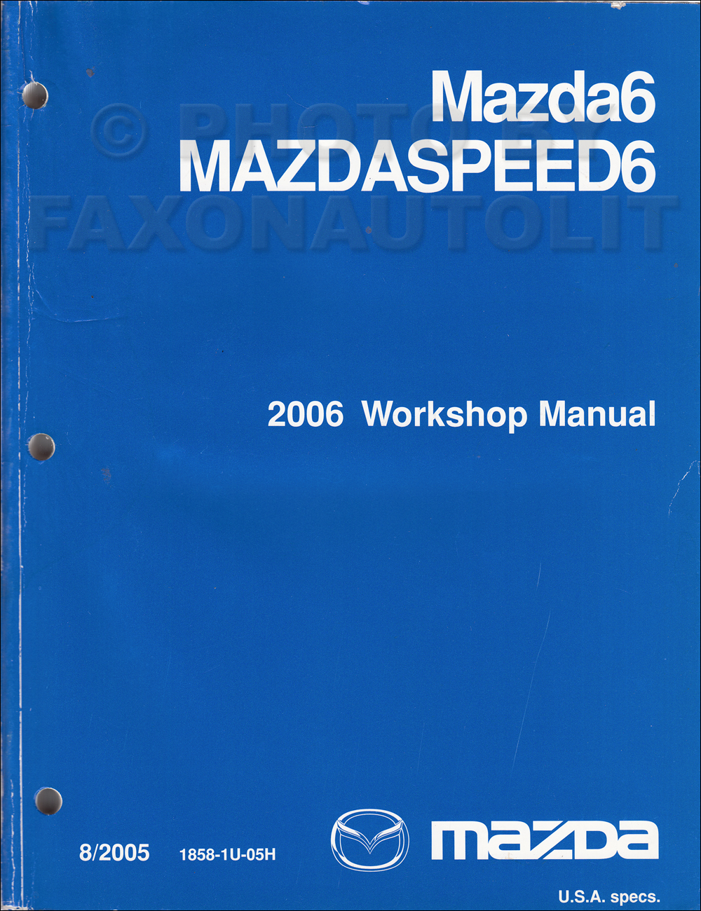 2005 Mazda6 Repair Manual Original
