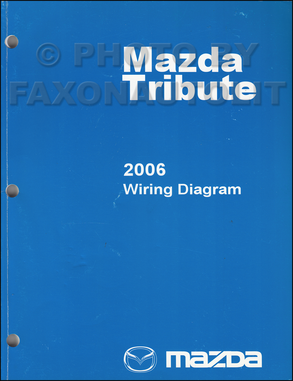 2006 Mazda Tribute Wiring Diagram Manual Original