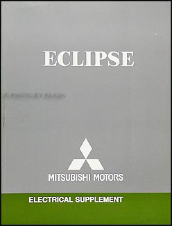 2006 Mitsubishi Eclipse Hatchback only Wiring Diagram Manual Original