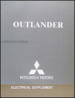 2006 Mitsubishi Outlander Wiring Diagram Manual Original