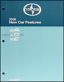 2006 scion xa xb tc features manual original