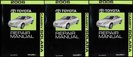 2006 Toyota Camry Solara Repair Manual Original Set