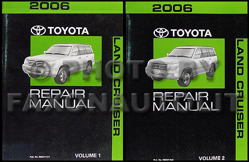 2006 Toyota Land Cruiser Repair Manual Original Set