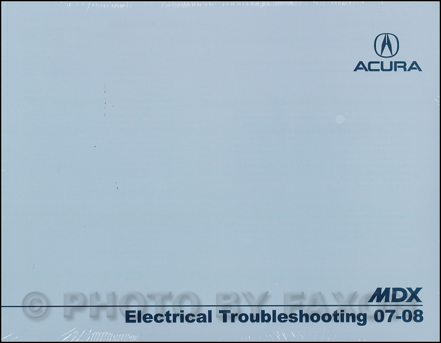2007-2008 Acura MDX Electrical Troubleshooting Manual Original