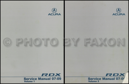 2007-2009 Acura RDX Repair Shop Manual 2 Volume Set