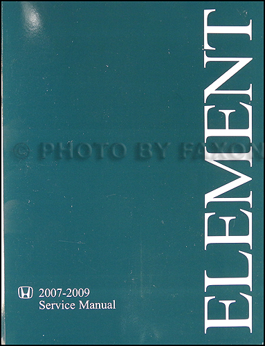 2007 2008 2009 Honda Element Repair Manual Original