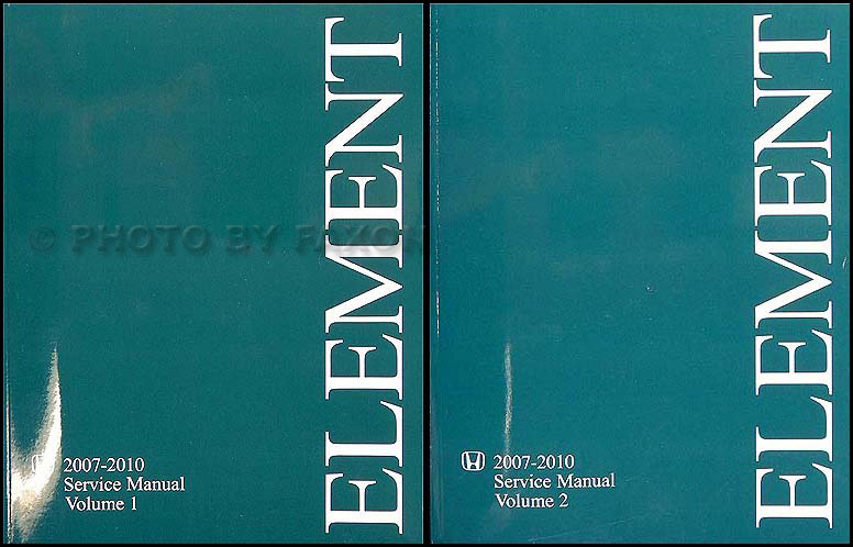 honda element maintenance manual