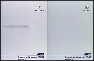 2007 Acura MDX Shop Manual Original 2 volume set