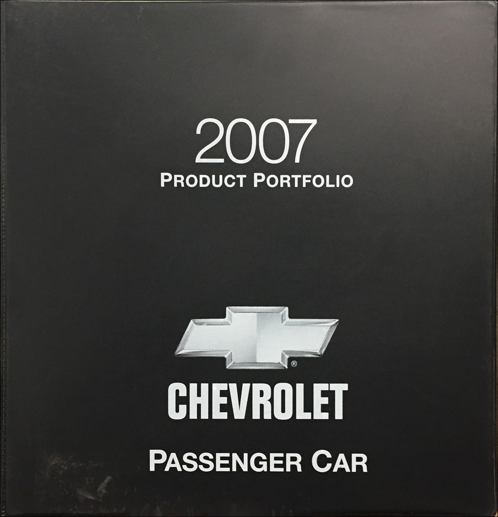 2007 Chevrolet Car Color & Upholstery Dealer Album/Data Book Original