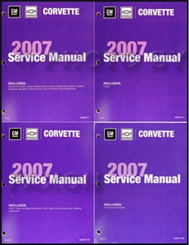 2006 Chevrolet Corvette Repair Manual Original 3 Volume Set