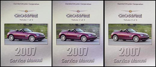 2007 Chrysler Crossfire Repair Manual Set Original
