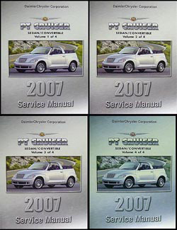 2007 Chrysler PT Cruiser Shop Manual Original 4 Volume Set