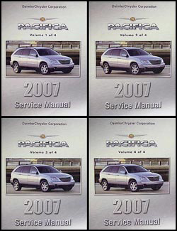 2007 Chrysler Pacifica Shop Manual Original 4 Volume Set