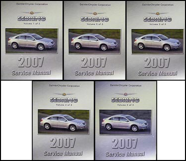 2007 Chrysler Sebring Shop Manual Original 5 Vol. Set