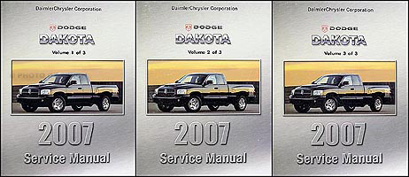 2007 Dodge Dakota Repair Manual 3 Vol Set Original