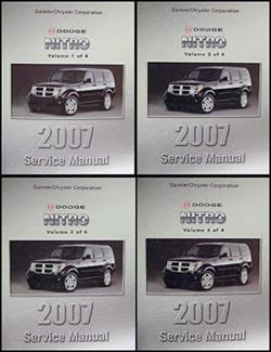 2007 Dodge Nitro Repair Manual 4 Vol Set Original