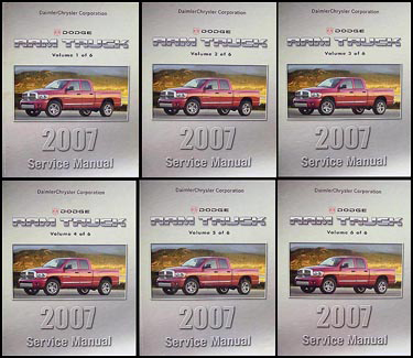 2007 Dodge Ram Truck Repair Manual Original 6 Volume Set