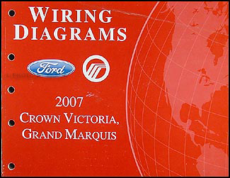 2007 crown victoria & grand marquis original wiring diagram manual 2007  ford crown victoria radio wiring diagram 2007 crown victoria wiring diagram