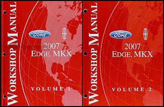 2007 Ford Edge/Lincoln MKX Repair Manual 2 Volume Set Original