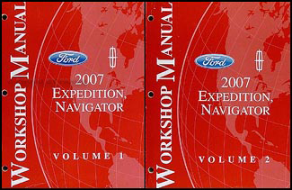 2007 Expedition & Navigator Repair Manual 2 Volume Set Original