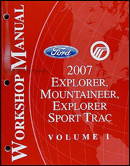 2007 Ford Explorer and Mercury Mountaineer Repair Shop Manual Set Original