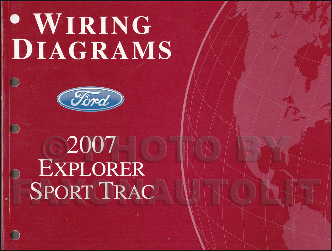 2007 Ford Explorer Mercury Mountaineer Wiring Diagram Manual Original Factory Colors Sport Trac