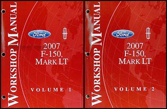 2007 Ford F-150 & Lincoln Mark LT Repair Manual 2 Volume Set Original