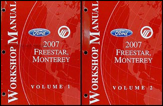 2007 Freestar & Monterey Original Repair Manual 2 Volume Set
