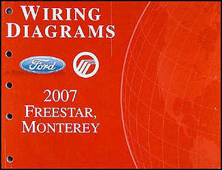 2007 Ford Freestar & Mercury Monterey Wiring Diagram Manual Original