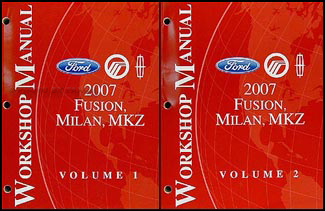 2007 Fusion, Milan, MKZ Repair Manual 2 Volume Set Original
