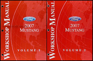 2007 Ford Mustang Shop Manual Original 2 Volume Set