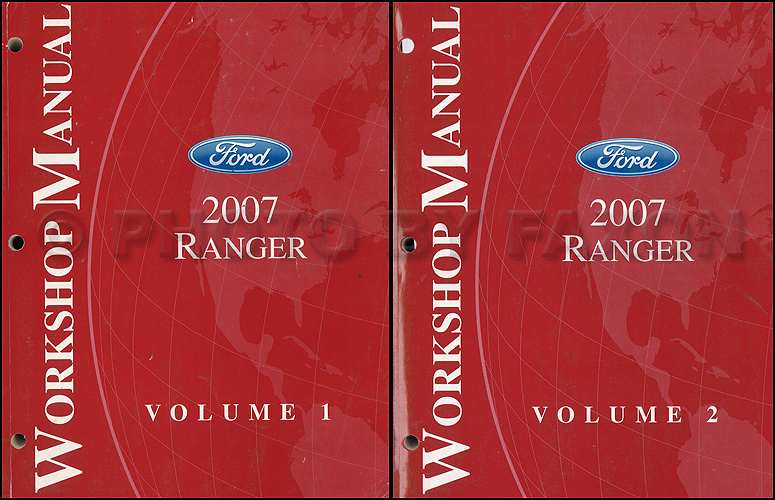 2007 Ford Ranger Repair Shop Manual Original 2 Volume Set
