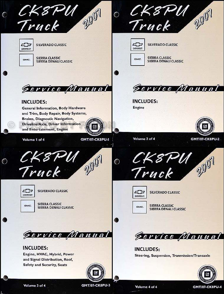 2007 Silverado Classic and Sierra Classic Repair Shop Manual Set CK8