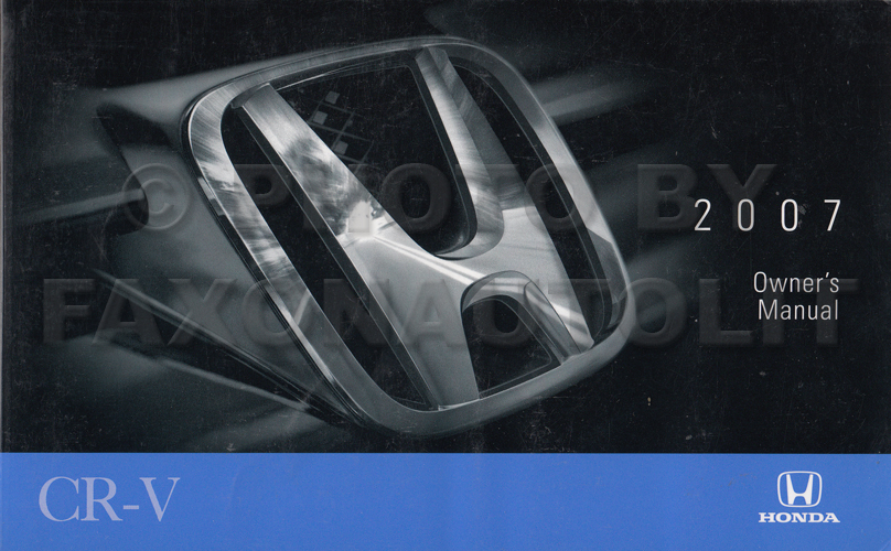 2007 Honda CR-V Owner's Manual Original