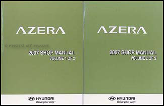 2007 Hyundai Azera Repair Manual Set Original