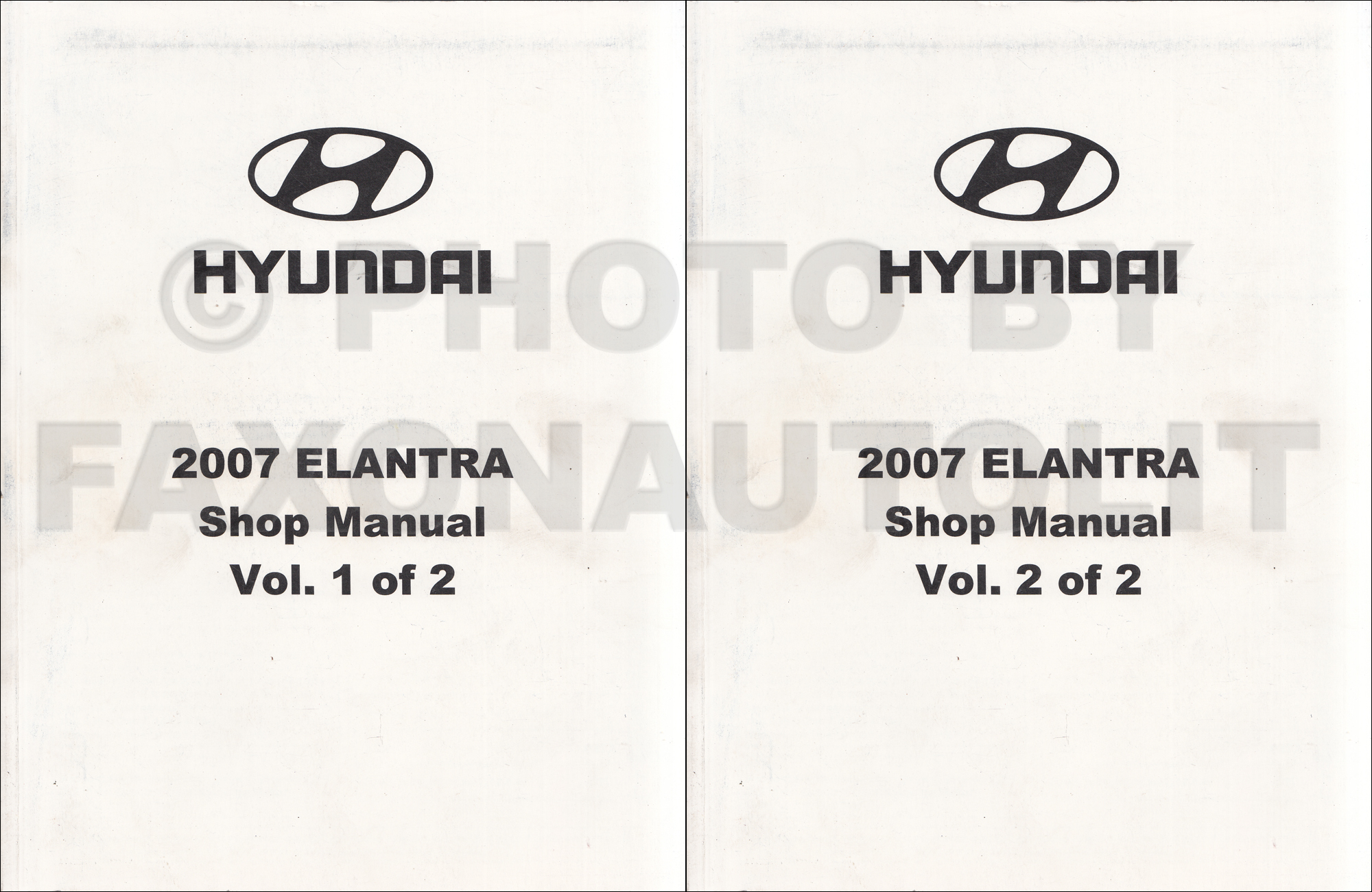 2007 Hyundai Elantra Repair Shop Manual 2 Volume Set Original
