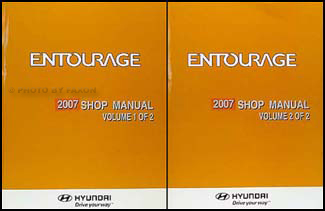 2007 Hyundai Entourage Repair Manual 2 Volume Set Original