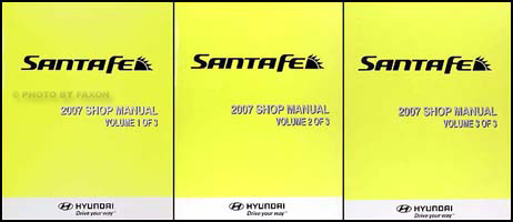 2007 Hyundai Santa Fe Repair Manual 3 volume Set Original