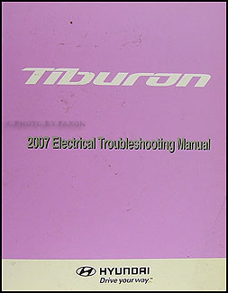 2007 Hyundai Tiburon Electrical Troubleshooting Manual Original