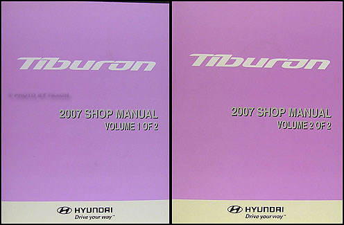 2007 Hyundai Tiburon Shop Manual Original 2 Vol. Set