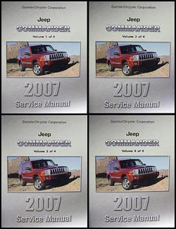 2007 Jeep Commander Shop Manual Original 4 Vol. Set
