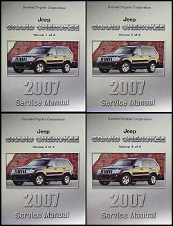 2007 Jeep Grand Cherokee Repair Manual Original 4 Vol. Set