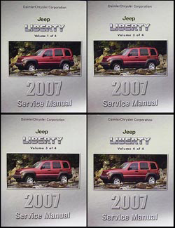 2007 Jeep Liberty Shop Manual Original 4 Vol. Set