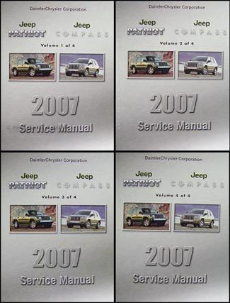 2007 Jeep Patriot & Compass Shop Manual Set Original 4 Vol. Set