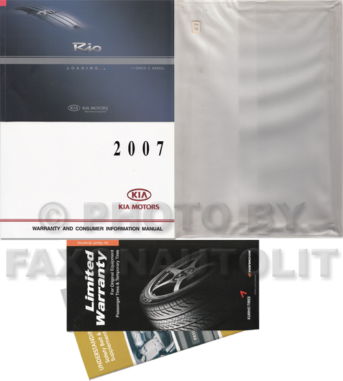 2007 Kia Rio Owners Manual Original
